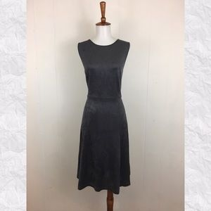 Philosophy Faux Leather Suede Crew A-Line Dress